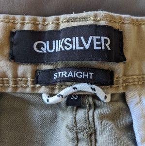 Quicksilver Green Shorts 33